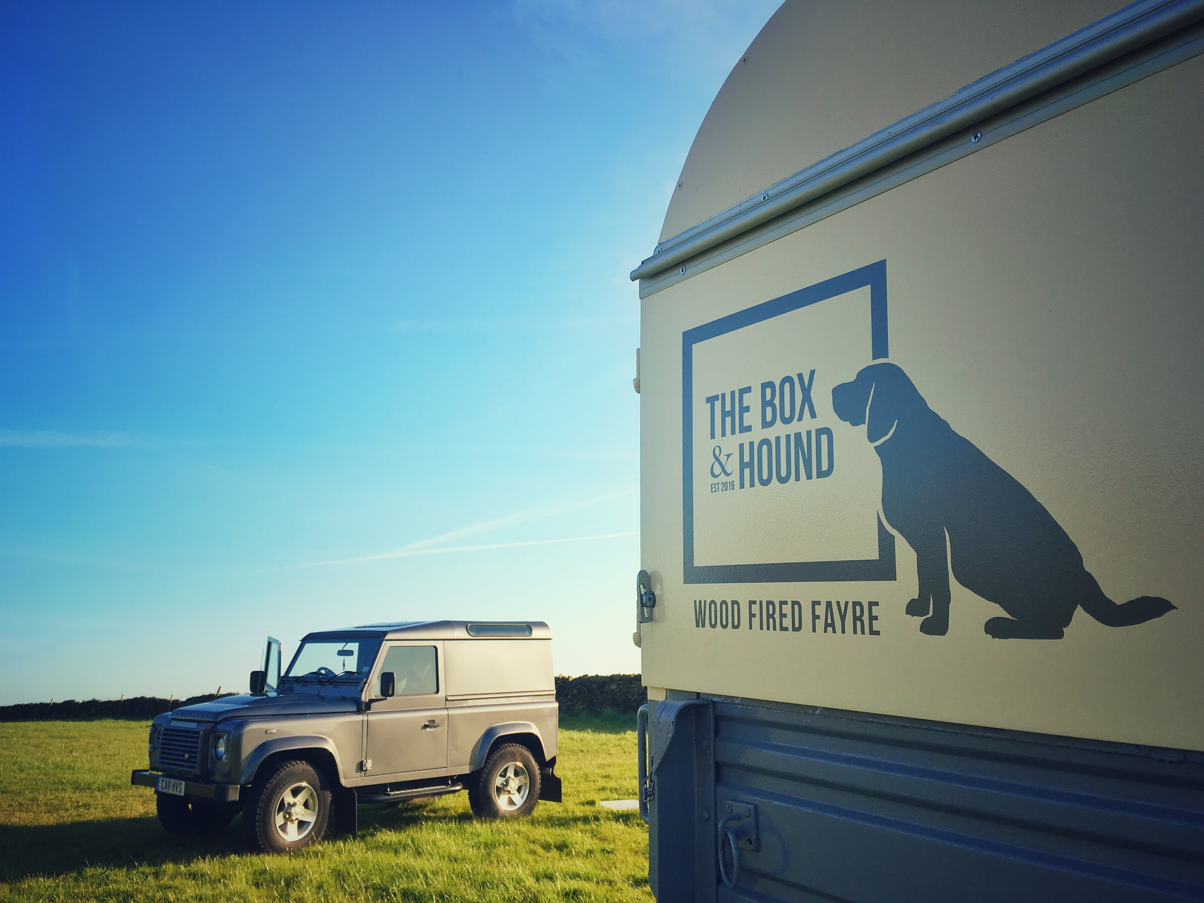 The Box & Hound and Landrover